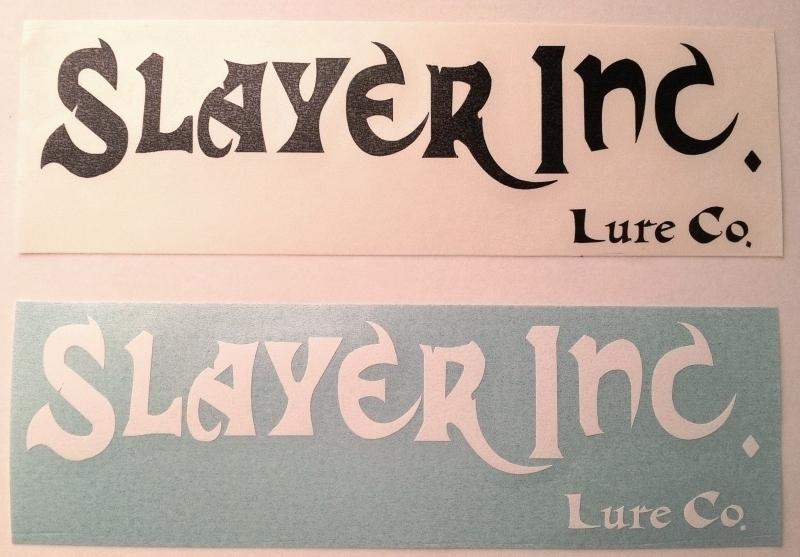 Logo Sticker Slayer Inc Lure Company